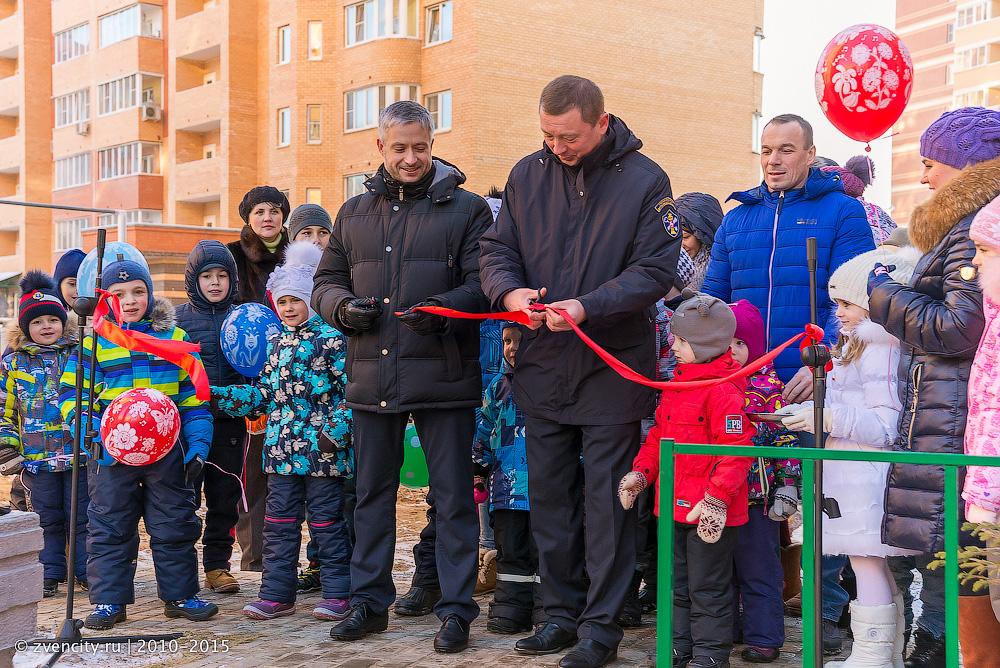 Открытие межквартальной детской площадки на Пронина 8