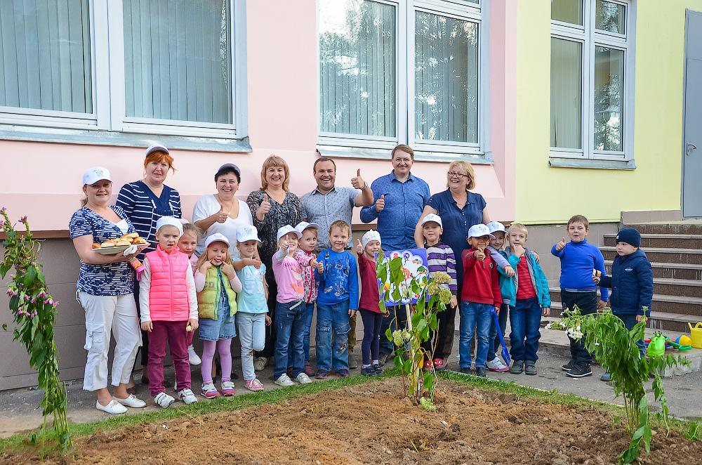 Озеленение территории детского сада №4