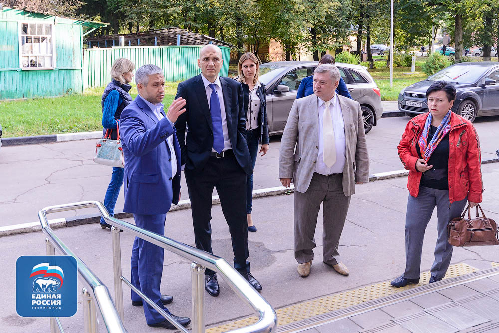 Дмитрий Голубков с рабочей поездкой в Звенигороде