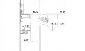 2к квартира, Фрунзе 29-39