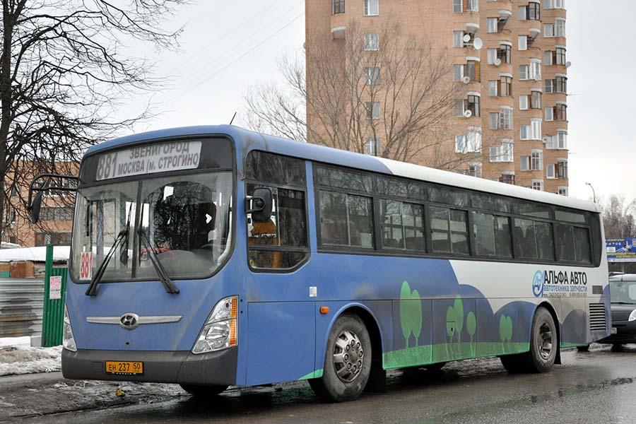 Новое расписание 881 маршрута Звенигород – м. Строгино