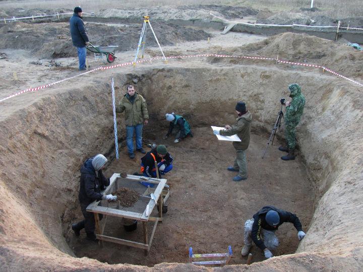 Археологические раскопки в Звенигороде