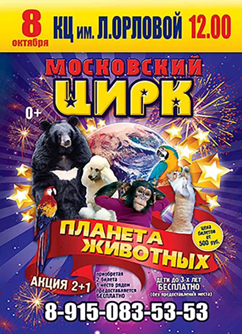 Цирковая программа «Планета животных»