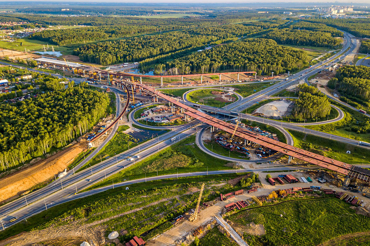ЦКАД: летом запустят участок от Можайского до Новорижского шоссе