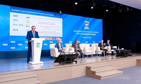 Состоялось заседание Генерального совета партии «Единая Россия»