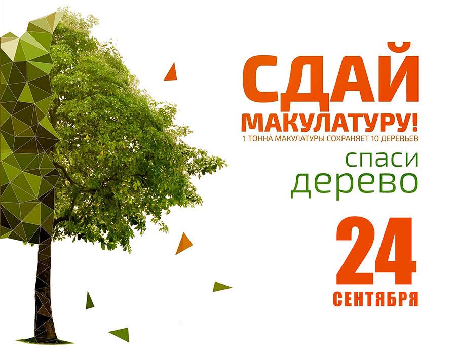 Сдай макулатуру - спаси дерево!