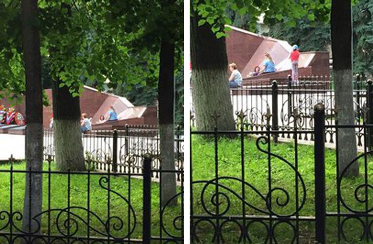 Мемориал Славы - не детская площадка