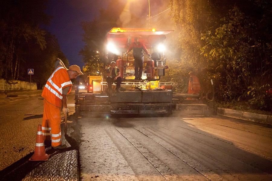 Ночной шум при производстве дорожных работ