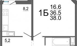 1к квартира, Восточный-3, 28, этаж 4