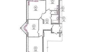 3к квартира, Радужная 12, этаж 14