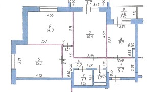3к квартира, Радужная 19, этаж 5