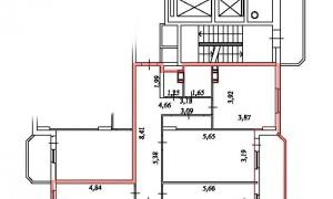 3к квартира, Спортивная 12, 12 этаж