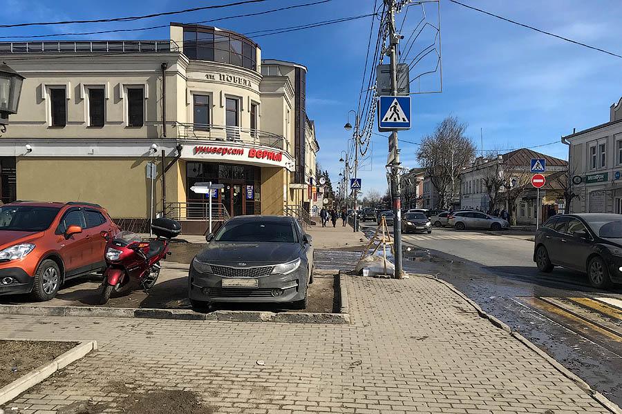 Тротуарный тупик в самом центре Звенигорода